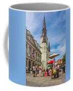 A Sunny Afternoon In Jackson Square Oil Coffee Mug by Steve Harrington