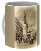 A Sunny Afternoon In Jackson Square Sepia Coffee Mug