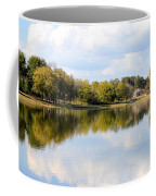 A Sunny Day's Reflections At The Lake House Coffee Mug