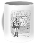 A Superhero With An I On His Chest Coffee Mug