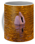 A Swan On Golden Waters Coffee Mug