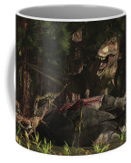 A T-rex Returns To His Kill And Finds Coffee Mug
