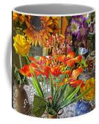 A Table Of Flowers Coffee Mug