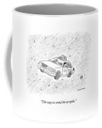 A Taxi Driver With An Alien Passenger Floats Coffee Mug