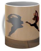 A Teenage Girl Playing With Her Shadow Coffee Mug