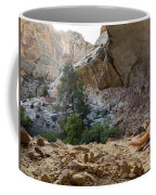 A Tent Pitched In A Large Alcove Coffee Mug