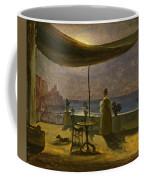 A Terrace In Amalfi In Moonlight Coffee Mug