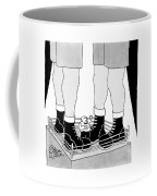 A Tiny Emcee In A Boxing Ring Is Seen Standing Coffee Mug