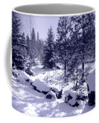 A Touch Of Snow In Lavender Coffee Mug