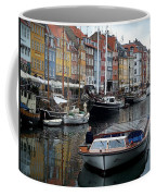 A Tour Boat At Nyhavn Coffee Mug