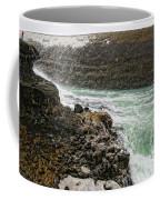 A Tourist Takes A Photo At Gullfoss Coffee Mug