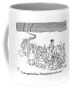 A Trail Of People And Disney Characters March Coffee Mug