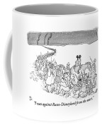 A Trail Of People And Disney Characters March Coffee Mug by Paul Noth