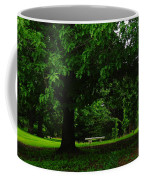 A Tree And A Bench Coffee Mug