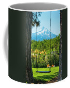 A Tree Swing Is Seen On A Summer Day Coffee Mug