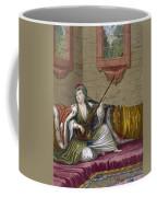 A Turkish Girl Playing The Tehegour Coffee Mug