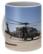 A Uh-60 Blackhawk Helicopter Coffee Mug