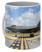 A U.s. Air Force F-35a Taxiing At Eglin Coffee Mug