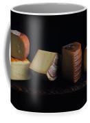 A Variety Of Cheese On A Cutting Board Coffee Mug