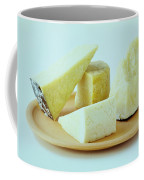 A Variety Of Cheese On A Plate Coffee Mug
