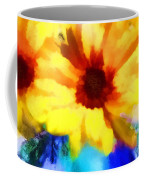 A Vase Of Sunflowers Coffee Mug by Valerie Anne Kelly