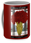 A Vase With Red Roses Coffee Mug