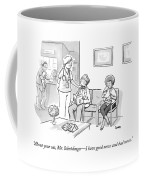 A Veterinarian Confronts A Man In The Waiting Coffee Mug