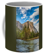 A View Of El Capitan From The Merced River Coffee Mug
