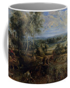 A View Of Het Steen In The Early Morning Coffee Mug by Peter Paul Rubens