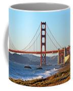 A View Of The Golden Gate Bridge From Baker's Beach  Coffee Mug
