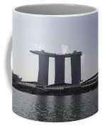 A View Of The Three Towers Of The Marina Bay Sands In Singapore Coffee Mug