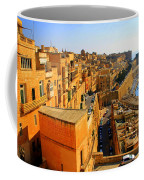 A View Of Valletta's Waterfront Coffee Mug