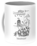 A Viking Army Stands Before A Castle Gate Where Coffee Mug