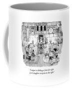 A Viking King Oversees A Social Gathering Coffee Mug