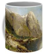 A Village By A Fjord Coffee Mug