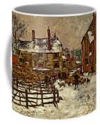 A Village In The Snow Coffee Mug