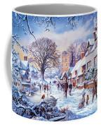 A Village In Winter Coffee Mug