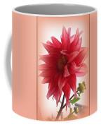A Vision In  Coral - Dahlia Coffee Mug