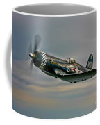 A Vought F4u-4 Corsair In Korean War Coffee Mug