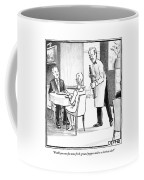A Waiter Offers Pepper To Two Patrons. His Pepper Coffee Mug