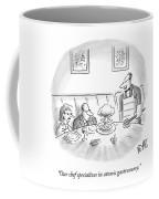 A Waiter Served A Man A Plate Of Food That Coffee Mug