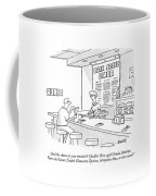 A Waitress Takes A Man's Order In A Diner Coffee Mug