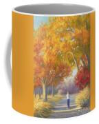 A Walk In The Fall Coffee Mug by Lucie Bilodeau