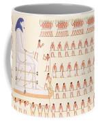 A Wall Painting At Beni Hasan Depicting Coffee Mug by Frederic Cailliaud