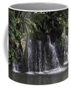 A Waterfall As Part Of An Exhibit Inside The Jurong Bird Park Coffee Mug