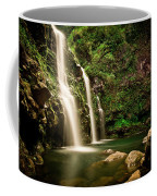 A Waterfall In Hana, Maui Coffee Mug
