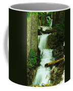 A Waterfall In Spring Thaw Coffee Mug by Jeff Swan