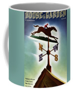 A Weathervane With A Racehorse Coffee Mug