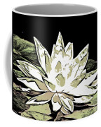 A  White Water Lily Coffee Mug