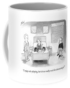 A Wife Dressed As A Cheerleader Coffee Mug by Tom Toro